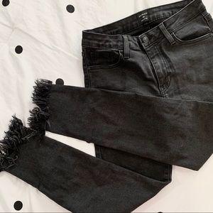 Just Black    Ankle Fray Skinny Jeans